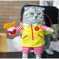 Baju Kostum Kucing Lucu Anjing Hewan French Fries McDonald Kentang