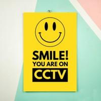 Hiasan Dinding Vallenca SMILE You Are On CCTV Unik Termurah