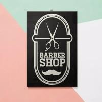 Hiasan Dinding Vallenca Tema Barber Shop Keren Unik Termurah