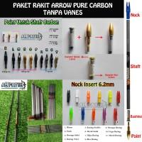 Paket Arrow Pure Carbon Musen Siap Rakit Tanpa Vanes / Untuk 6pc Arrow