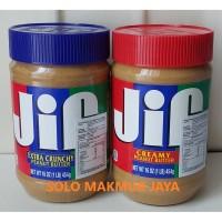 Jif Creamy Peanut Butter Selai Kacang Tidak Mengandung Pengawet 454gr