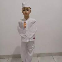 Baju Muslim Setelan/Set Baju Koko Anak Cowok Laki-laki ANNAS Putih
