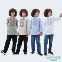baju Muslim anak laki-laki sz 3-13th atasan Koko lengan panjang impor