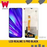 LCD LAYAR REALME 5 PRO FULLSET TOUCHSCREEN BLACK