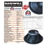 SPEAKER COMPONENT HARDWELL 18P400 / 18 P400 ORIGINAL 18 inch KOMPONEN