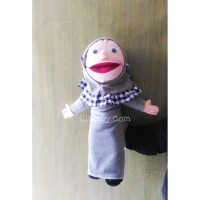 Boneka Tangan Muppet karakter Santri Putri baju abu | Boneka Edukasi