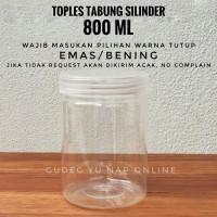 Toples Tabung Cylinder 800 ml - Toples Jar Plastik 800 ml / 800ml