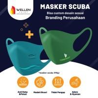 Cetak / Print Masker Scuba Custom Logo / Nama / Gambar 290 gsm Dewasa