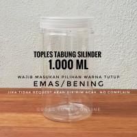 Toples Tabung Cylinder 1 Liter - Toples Jar Plastik 1000 ml / 1000ml