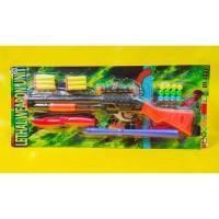 Mainan Tembakan Shotgun 2in1Peluru Busa dan Bola Plastik Lethal Weapon