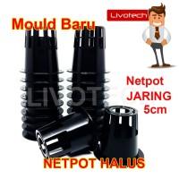 Netpot Hidroponik 5cm LUBANG JARANG Hitam Hydroponic Net Pot Murah