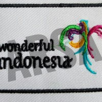 Emblem patch bordir logo wonderful indonesia di toko agenforedijogja