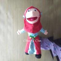 Boneka Tangan Muppet karakter Santri Putri Baju batik|Jual Mainan Anak