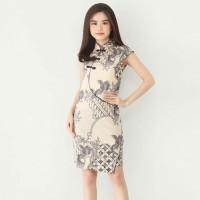 Baju Batik Wanita-Dress Batik Cheongsam Variasi Kancing Shanghai 032