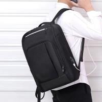 Ransel/Tas Laptop/Backpack Laptop Variasi Kulit waterproof Large 9107