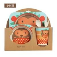 Bamboo Fiber Feeding kids Set HEDGEHOG / Peralatan makan bayi Landak