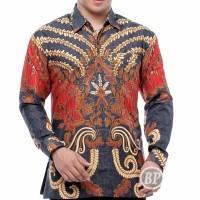 baju pria kemeja batik semi sutra selky premium kemeja lengan panjang