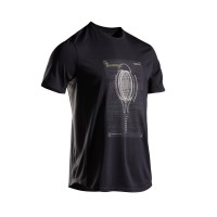 Artengo Baju Tenis Tts 100 Pria Hitam Decathlon - 8551355