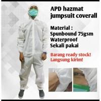 Alat Pelindung Diri APD Baju Hazmat Jumsuit Coverall Spunbound 40 gsm