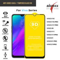 Anti Gores Tempered Glass Full 9H 9D Vivo V15 V17 V11 S1 Z1 Pro V9