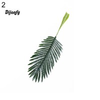 ✲Di 1Pc Artificial Coconut Tree Palm Green Leaves Plant Office Home