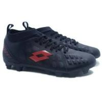 Sepatu Bola Lotto Energia FG Jet Black Solar Red Original