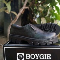 sepatu safety boygie kulit premium murah promo grosir casual docmart
