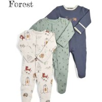 Mamas Papas Sleepsuit Set 3 in 1 Motif Forest