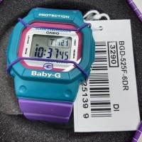 Jam Tangan Wanita CASIO Baby-G BGD 525F 6DR Rubber Digital Original