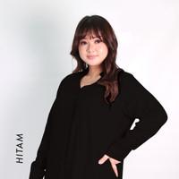 Blouse Jumbo Wanita LD 120 Baju Kantor Katun Rayon Stella - Hitam