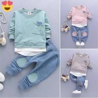 IMPORT Setelan Baju Celana Anak Laki. Sport. Size Kids 1-4thn