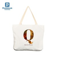"Tas Custom Tote Bag Wanita 17"" x 15"" 1 Sisi. 100% Polyester Canvas"