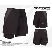 Celana pendek Lari Tactico RECHARGO black