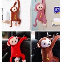 Monkey Tisu Boneka Gantung Arm Rest Mobil / Kotak Tisu Monyet Lucu