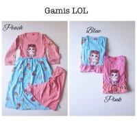 baju muslim gamis dress jilbab LOL led murah anak perempuan