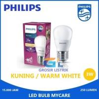 Lampu Philips LED Bulb MyCare 3W Kuning Warm White (3 Watt W) Grosir
