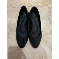 Sepatu Wanita Kerja Kulit Sapi Asli Warna Hitam ,Sol Empuk /Flat shoes