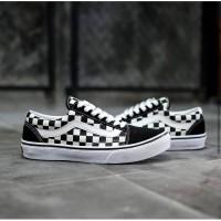 Sepatu Vans Oldskool Checkerboard Hitam Putih Kotak Original Termurah
