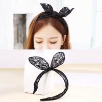 Bando Renda Wanita Import Telinga Kelinci Rabbit Ears Hairband 02F977R