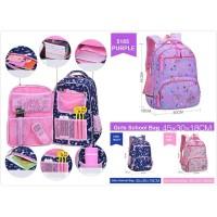 DRAB5185B Tas sekolah Anak perempuan / Tas ransel anak / Tas Punggung
