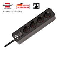 Brennenstuhl Stop Kontak Ecolor 4-Soket dengan Switch Cable Extension