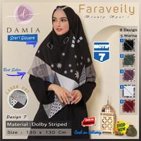 Jilbab Segi Empat Syari Jumbo Size Faraveily Motif 7 by Damia Scarf