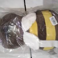 bantal pelindung kepala bayi motif bee coklat