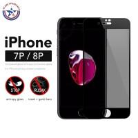 Anti Spy Tempered Glass iPhone 7 Plus 8 Plus / Antispy Antigores