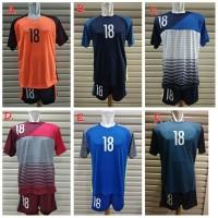 Jersey Kaos Setelan Baju Team set SepakBola / Futsal isi 18pcs