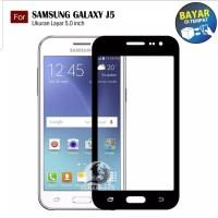 Samsung J5 2015 Tempered Glass Anti Gores Kaca Screen Guard Full Cover