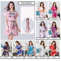 Baju Tidur Satin MERAK Sleepwear Wanita Lingerie Silk Daster Piyama