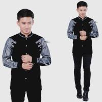 baju koko pria busana muslim seragam hadroh gus azmi azzahir K11