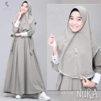 Baju gamis remaja muslim NURA mat supernova ld92/pj130 by shopiya