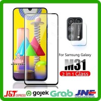 Tempered Glass Samsung M31 5D Full + Anti Gores Lensa Kamera